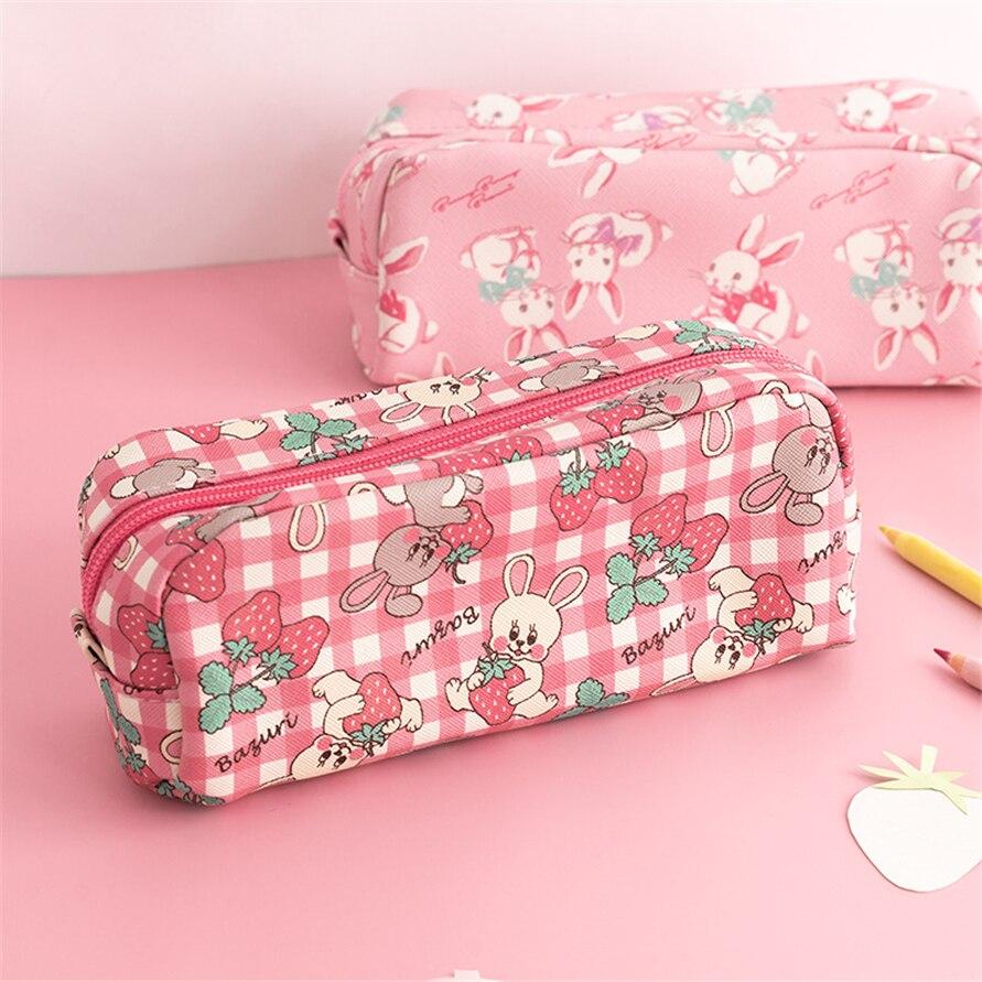 Pencil Cases Astuccio Scuola Cartuchera Unicorn Cute Escolar Pouch Rabbit Bags For Girl Pencilcase Piornik School Kalem Kutusu