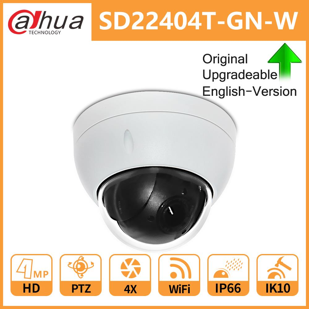 Dahua Original SD22404T-GN-W SD22404T-GN 4MP 4X Optical Zoom High Speed PTZ Network WiFi/Wired IP Camera WDR ICR Ultra IVS IK10