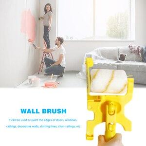 Image 5 - Outil de bordure de peinture de brosse de rouleau de coupe propre pour la maison plinthe garniture de porte mur plafond peinture outils de traitement de mur