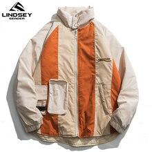 Winter Jacket Windbreakers Fashion Coat Parkas Men Bomber Streetwear Thin Mens Cotton