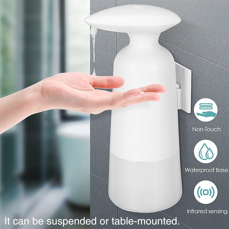 350 мл бесконтактный ванная дозатор датчик жидкость мыло дозатор для кухни рук бесплатно автоматический мыло дозатор настенный установленный