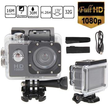 цена на 2.0 Inch Full HD 1080P Waterproof Camera Camcorder Car Motorcyce Sports DV Go Car Cam Pro Camcorder With Cam Accessories