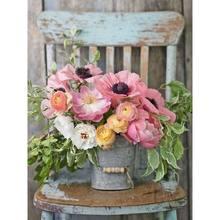 Gatyzory – peinture par numéros de fleurs dans un Vase, bricolage, toile, image peinte à la main, décoration de la maison
