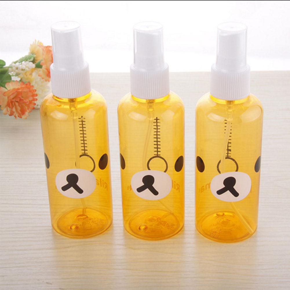 Kuulee 30ml/100ml Empty Spray Bottles Cartoon Mini Portable Refillable Bottle Cosmetic Hand Sanitizer Alcohol Dispenser