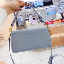 Women Genuine Leather Brand Handbag Fashion Luxury Shoulder Bag Ladies Designer Solid Color Classic Small Purse New 2021