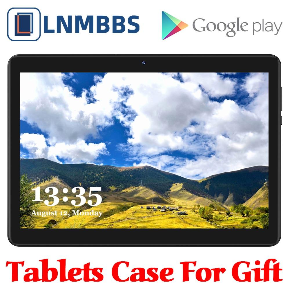 LNMBBS 10.1 pouces tablette MTK6580 Octa Core Android tablettes 4GB RAM 64GB ROM 1920x1200 IPS affichage double SIM 4G tablette d'appel téléphonique