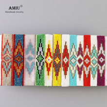 AMIU Handmade Package For Sale Bohemian Weave Beads Friendship Bracelet Woven Rope String