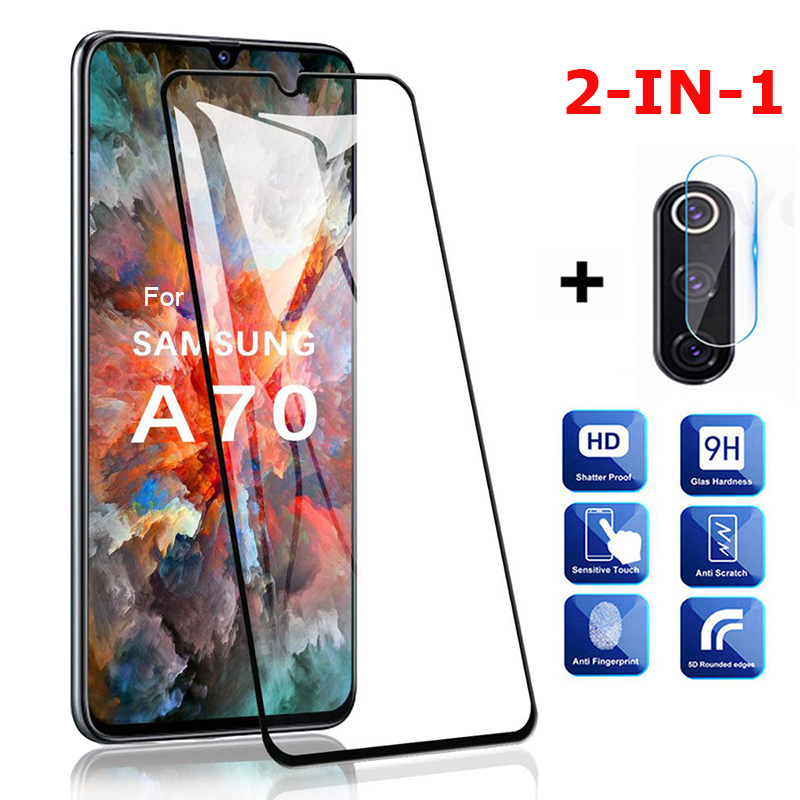 2in1 Protective Glass On For Samsung Galaxy A70 Camera Glass Protector For Samsung A70 A50 A10 A51 A71 A 70 A 51 Safety Films 3D