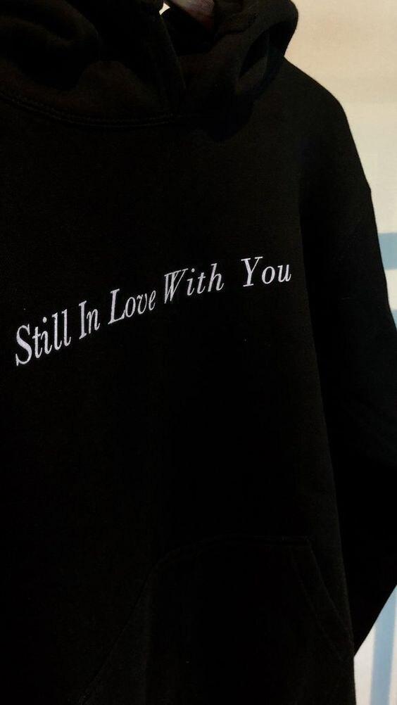 Woman Alphabet I Love You Long Sleeve Funny Drawstring Sweater