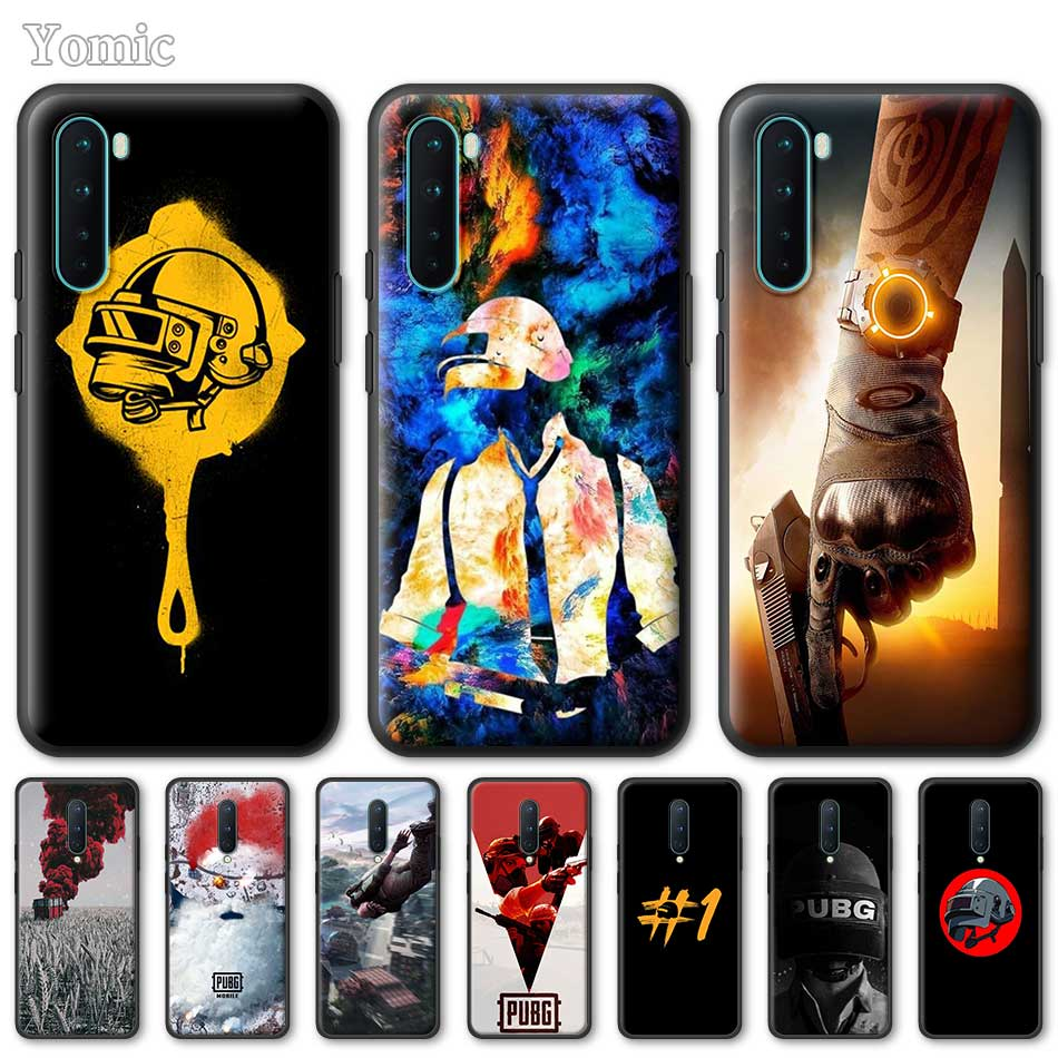 Silicone Phone Case For OnePlus Z 8 Nord 6T 6 7 7T Pro 5G Black Soft Coque Pubg TPU Cover Shell