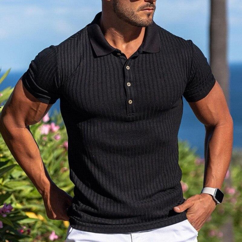 Short Sleeve Knitted Polo Tshirt 1