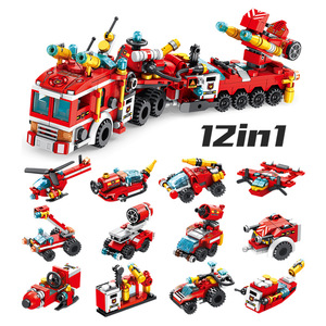 Image 4 - 12 In 1 Transformation Engineering Vehicle Military Robot DIY Legoed Model Building Blocks Kit Education Puzzle Toys Kids Gifts