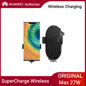Image 1 - Huawei Wireless Car Charger Automatic Switch Wireless Charger Huawei 27W Max SuperCharge CarCharger For Huawei Samsung iPhone 11