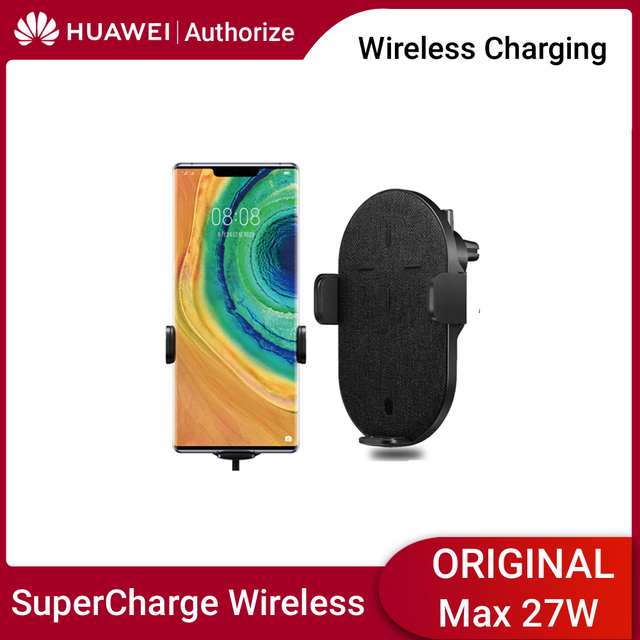 Huawei Wireless Car Charger Automatic Switch Wireless Charger Huawei 27W Max SuperCharge CarCharger For Huawei Samsung iPhone 11