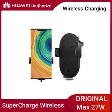 Không Dây Huawei Sạc Xe Hơi Công Tắc Tự Động Sạc Không Dây Huawei 27W Max Siêu Bền Carcharger Cho Huawei Samsung iPhone 11