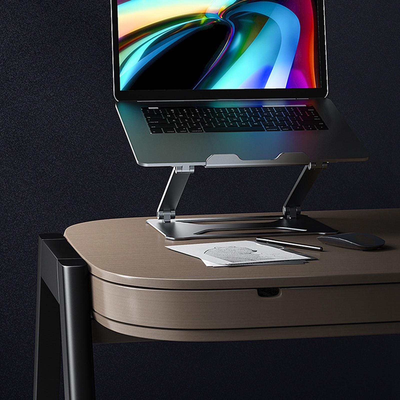 Алюминиевая Подставка для ноутбука эргономичный поднос регулируемая