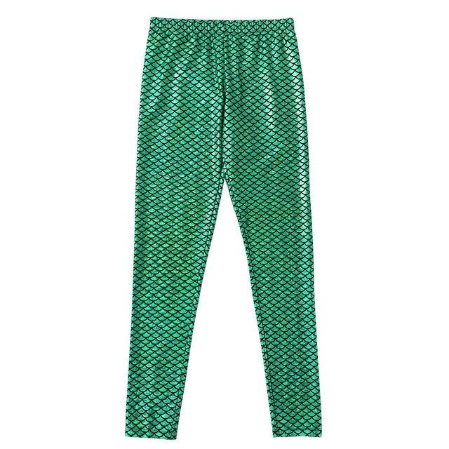 Men Boys Mermaid Scale Skinny Pants Man Shiny Wetlook Breathable Leggings Tights For Theme Party Nightclub Stage Dance Costume 3