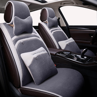 Deluxe Plush Car Seat Covers Winter wool seat cushion for peugeot 206 407 508 308 301 3008 2017 205 106 307 207 car accessories