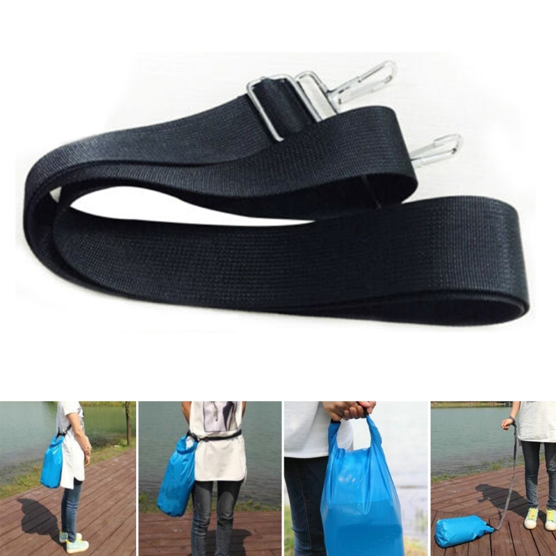 Versatile Bags Accessories Adjustable Nylon Shoulder Bag Belt Replacement Laptop 150CM Bag Straps Black Detachable Shoulder Belt