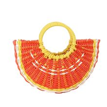 Special New Style Summer Cute Fruit Shape Straw Handbags Hand-woven Purse Lade Tote Bag for Travel