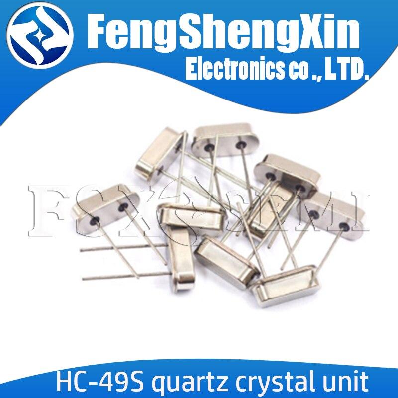 10pcs  HC-49S Quartz Crystal Unit Crystal DIP 3.5795MHZ 4MHZ 4.1943MHZ 4.9152MHZ 6MHZ  6.144MHZ 7.3728MHZ 8.192MHZ 9.8304MHZ