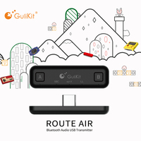 Original GuliKit Type C NS07 Route Air Wireless Audio Adapter Bluetooth Transmitter for Nintendo Switch for Switch Lite PS4 PC