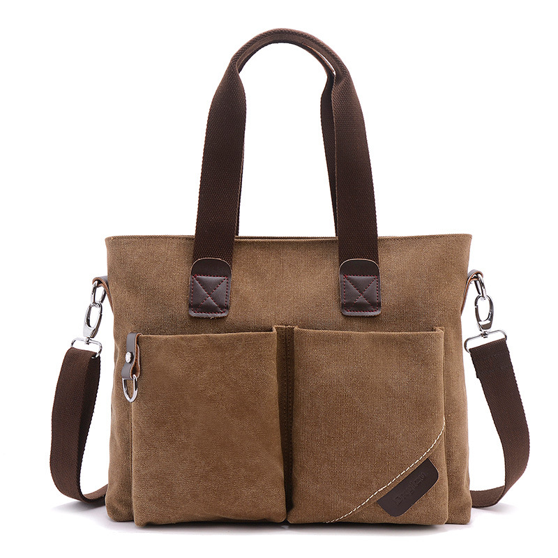 2019 Fashion Simple Men's Briefcase Korean Casual Men's One Shoulder Messenger Bag Breathable Waterproof Computer  Business Bag