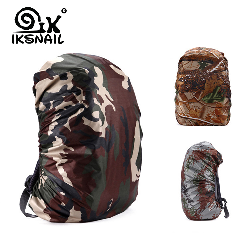 IKSNAIL Mounchain 35/45L Adjustable Waterproof Dustproof <font><b>Backpack</b></font> Rain Cover Portable Ultralight Shoulder Protect Outdoor Hiking image