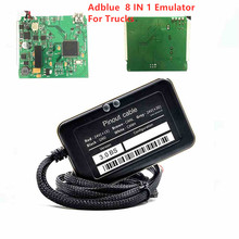 2019 New Adblue 8 in 1 8in1 Universal NOT NEED ANY SOFTWARE AdBlue Emulation Box for multi-brands trucks Diagnostic Tool цена
