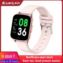 2020 femmes montres intelligentes Bracelet moniteur de fréquence cardiaque pression artérielle Sport montre téléphone Connecte IOS Android KW17 Smartwatch