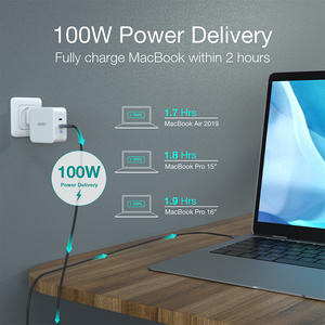 Image 3 - CHOETECH 100W GaN Fast Type C Charger For MacBook Pro PD 3.0 2 Port USB C Charger for Samsung Dell XPS Pixel 4 QC3.0 Adapter