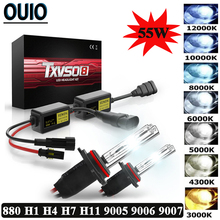 TXVSO8 H7 55W HID MINI Slim Ballast kit Xenon Headlight Bulbs H1 H4 H11 9005 9006 3000K 4300K 6000K 8000K 12V Car LED Head Light 55w xenon hid kit xenon h7 h4 h1 h3 h8 h9 h11 9005 9006 4300k 6000k 8000k 10000k slim ballast hid xenon kit 55w headlight bulbs