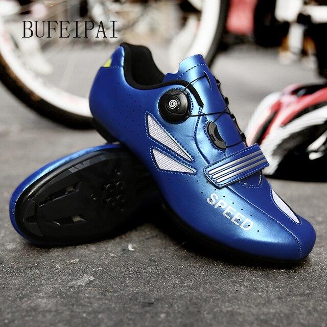 2020 ciclismo de estrada sapatos de ciclismo de bicicleta homem não-bloqueio de corrida respirável ultraleve profissional tênis de bicicleta mulher 3