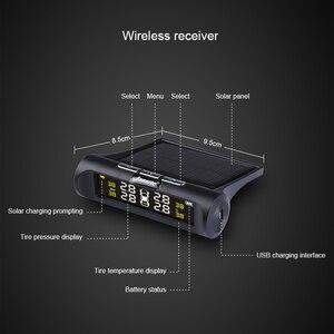 Image 4 - Jansite Smart Auto TPMS Reifen Druck Überwachung System Solar Power Digital LCD Display Auto Sicherheit Alarm Systeme Reifen Druck