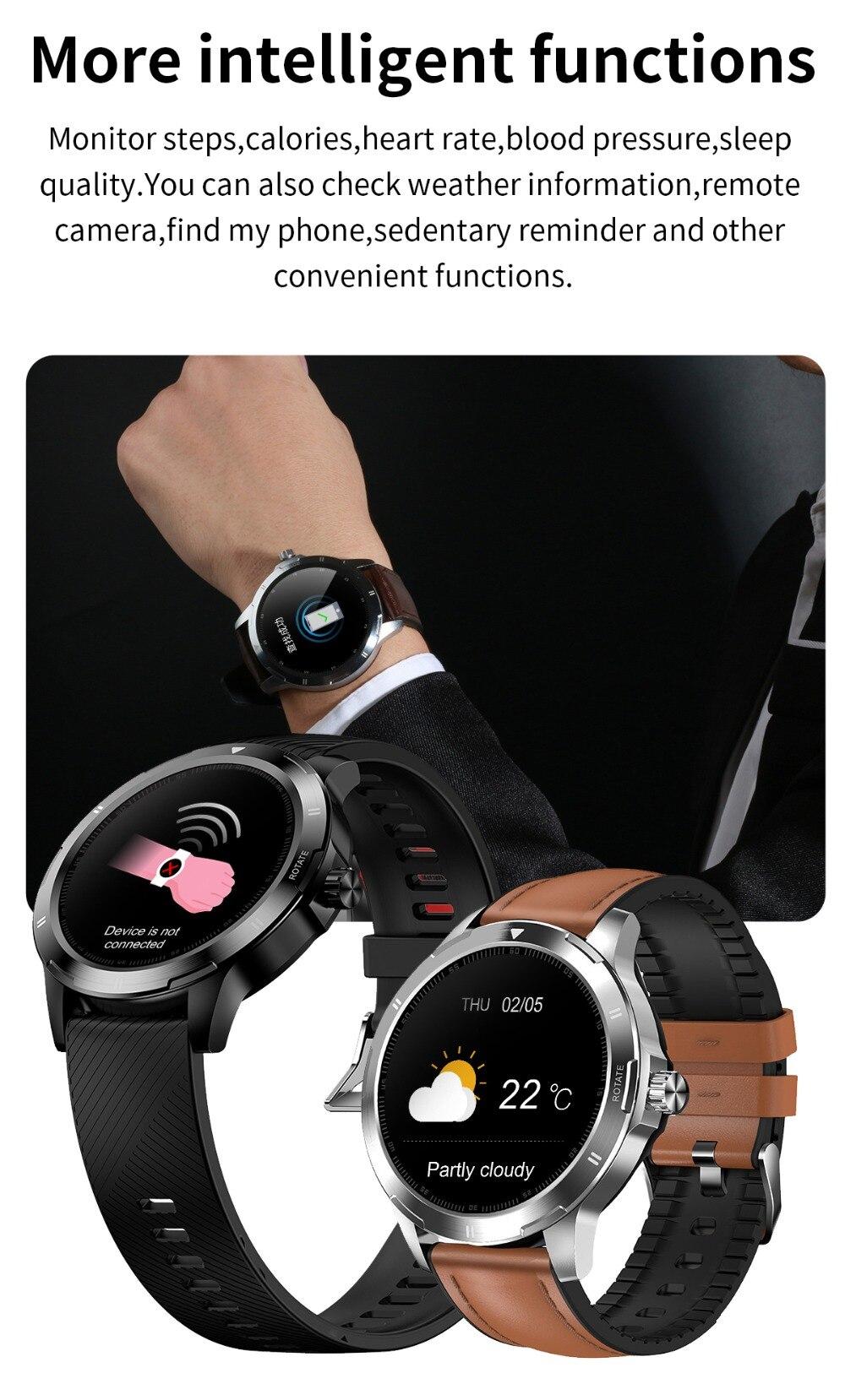 rolamento esportes fitness rastreador temperatura smartwatch changable