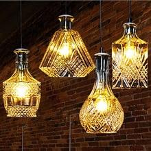 Nordic Creative E27 Bulb Clear Glass Pendant Lights bathroom Decoration Lustre Pendente Lamp