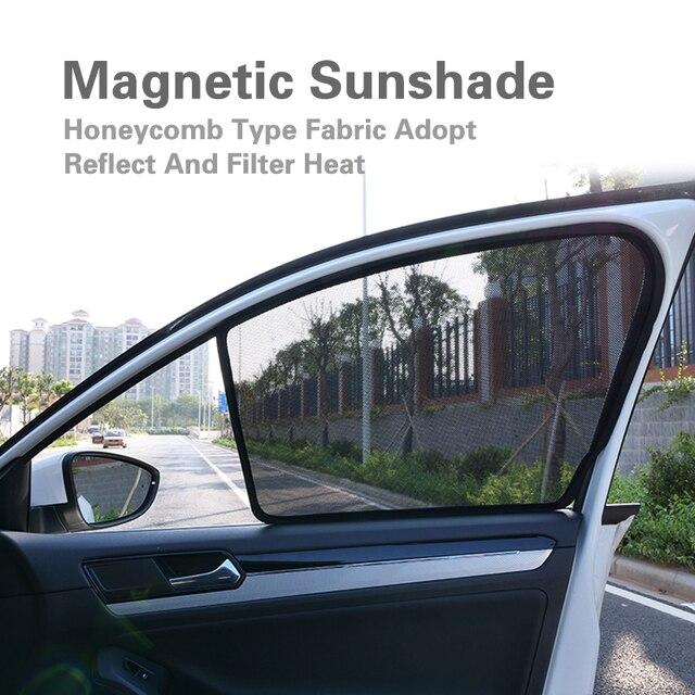 $ 36 2PCS Magnetic Car Front Side Window SunShades Mesh Cover For Ford Focus Hatchback Sedan Escape/Kuga Everest Taurus 2013-2018