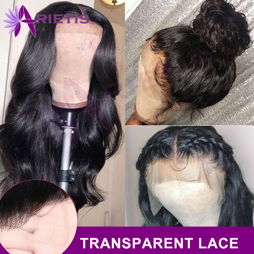 Body Wave Wig 13x4 150% Malaysian Transparent Lace Front Human Hair Wigs Pre Plucked Remy Human Hair Wigs For Black Women
