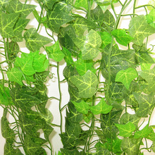 2.4M DIY Artificial Ivy green Leaf Garland Plants Vine Fake Foliage Flowers Home Decor Plastic Artificial Flower Rattan string artificial ivy green leaf wicker garland plants vine fake foliage home garden leaves osier decor fake rattan string grass cactus