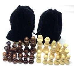 32 pces 2.5/3.5 polegadas peças de xadrez de madeira completo chessmen palavra internacional jogo de xadrez jogos de entretenimento
