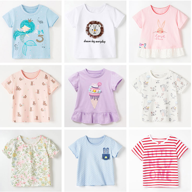 Bebe Girls t shirt Tops Sweater Quality Brand Sweatshirts 100% Cotton Baby Girl Clothes Kids Infant Children Blouse T-shirt Tees