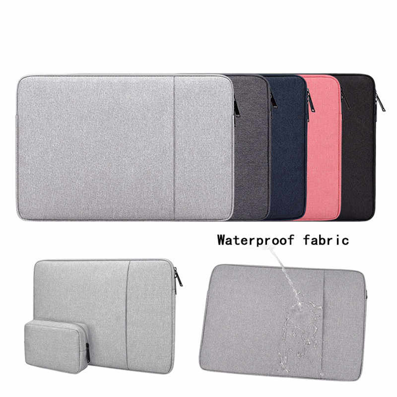 Waterdicht Polyester mouw Pouch Tassen 14 15.6 inch Voor Macbook Air 13 Pro 15 Laptop Tas Voor Xiaomi Asus Lenovo notebook Case
