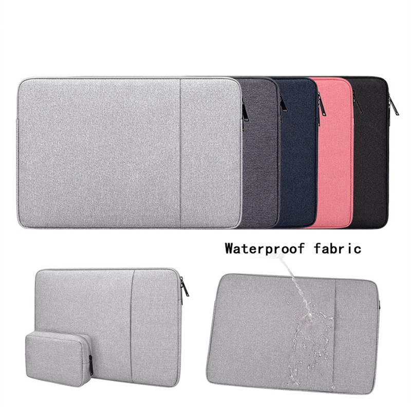 Waterproof Polyester sleeve Pouch Bags 14 15.6 inch For Macbook Air 13 Pro 15 Laptop title=