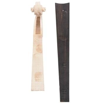 цена на 4/4 Violin Parts High Quality Violin Neck Flame Maple Neck Carved Scroll Ebony Fingerboard Pure Handmade Violin Accessories