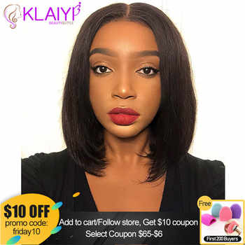 Klaiyi Hair Straight Bob Human Hair Wigs 8-14 inch Pre Plucked Brazilian Remy Hair 13*4/13*6 inch Lace Front Wig 150% Density - Category 🛒 Hair Extensions & Wigs