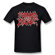 Morbid Angel T-Shirt, Red Logo Black Metal Tee, Size S-3XL Men Casual Short Sleeve T Shirts Design Tops Top Tee Plus