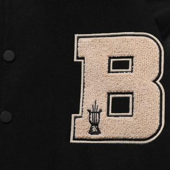 LACIBLE 2020SS Hip Hop Furry Bone Patchwork Color Block Jackets Mens Harajuku Streetwear Bomber Jacket Men Baseball Coats Unisex 6