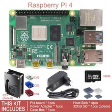 Оригинальный Raspberry Pi 4 Модель B BCM2711, новый выпуск 2019, четырехъядерный процессор 1,5 ГГц, 1 ГБ/2 ГБ/4 ГБ, комплект макетной платы SDRAM