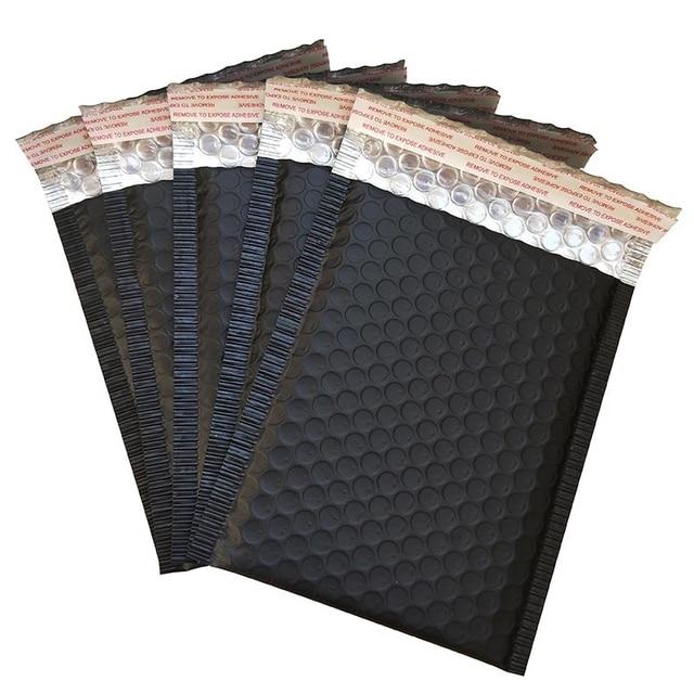 New 60Pcs 150 x 180mm Matte Black Bubble Envelopes Bags Mailers Padded Shipping Envelope with Bubble Mailing Aluminum Foil Bags
