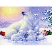 DIY 5D Diamond Painting Polar Bear Full Round Mosaic Rhinestone Diamond Embroidery Animal Cross Stitch Kits Decor Home Wall Art 5d diy diamond painting polar bear diamond embroidery animal cross stitch mosaic paintings rhinestone decor home